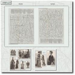Patrons de La Mode Illustrée 1880 N°23