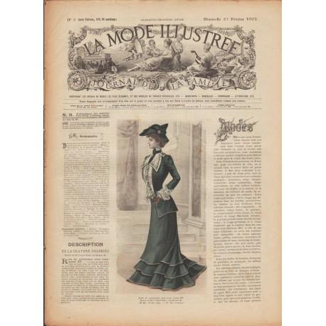 Complete magazine La Mode Illustrée 1902 N°08