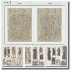 Sewing patterns La Mode Illustrée 1911 N°4