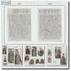 Patrons de La Mode Illustrée 1874 N°42
