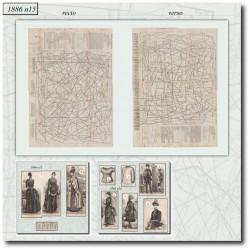 Patrons de La Mode Illustrée 1886 N°15