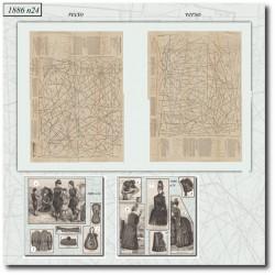 Sewing patterns La Mode Illustrée 1886 N°24