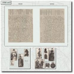 Patrons de La Mode Illustrée 1886 N°43