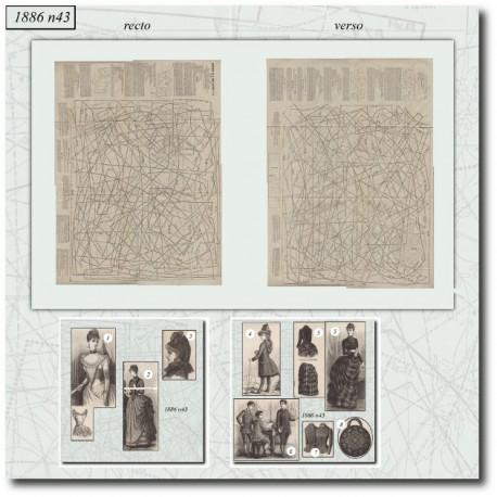 Sewing patterns La Mode Illustrée 1886 N°43