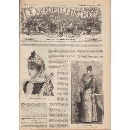 Revue et patron de robe en satin et astrakan 1890-49