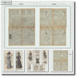 Sewing patterns La Mode Illustrée 1908 N°22