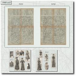 Sewing patterns La Mode Illustrée 1908 N°43