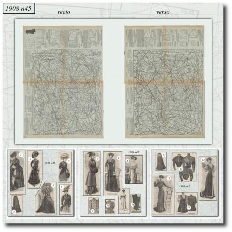 Sewing patterns La Mode Illustrée 1908 N°45