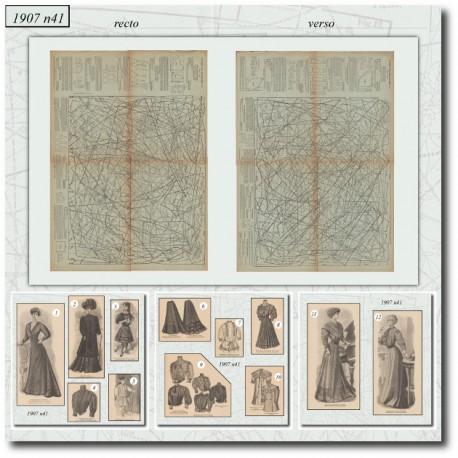 Sewing patterns La Mode Illustrée 1907 N°41