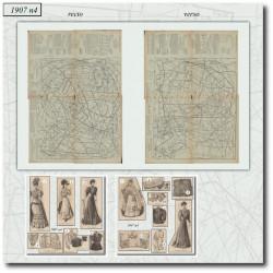 vykrojku La Mode Illustrée 1907 N°4