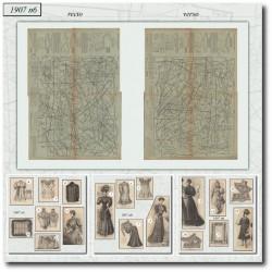 Patrons de La Mode Illustrée 1907 N°6