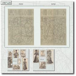 Sewing patterns La Mode Illustrée 1907 N°26