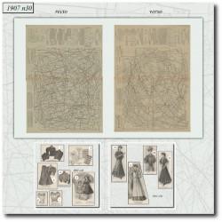 vykrojku La Mode Illustrée 1907 N°30