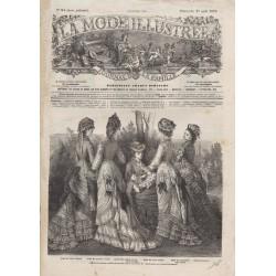Complete magazine La Mode Illustrée 1876 N°34