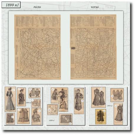 Sewing patterns La Mode Illustrée 1899 N°01