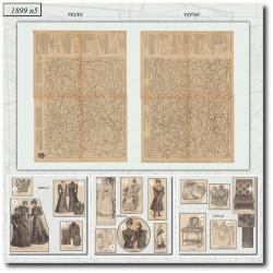 Sewing patterns La Mode Illustrée 1899 N°05