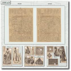 Patrons de La Mode Illustrée 1899 N°10