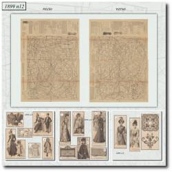 Sewing patterns La Mode Illustrée 1899 N°12