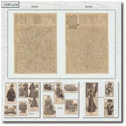 Sewing patterns La Mode Illustrée Paris 1899-16