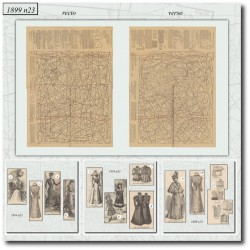 Sewing patterns La Mode Illustrée 1899 N°23