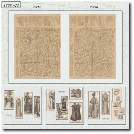 Patrons de La Mode Illustrée 1899 N°23