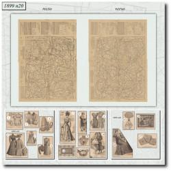 Sewing patterns La Mode Illustrée 1899 N°20