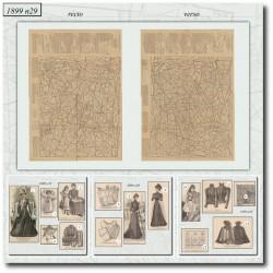 Patrons de La Mode Illustrée 1899 N°29