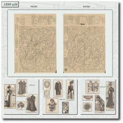 Patrons de La Mode Illustrée 1899 N°36