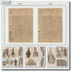 Patrons de La Mode Illustrée 1899 N°40