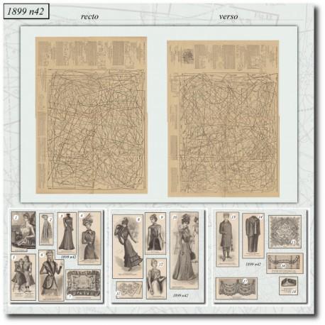 Patrons de La Mode Illustrée 1899 N°42