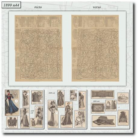 Sewing patterns La Mode Illustrée 1899 N°44