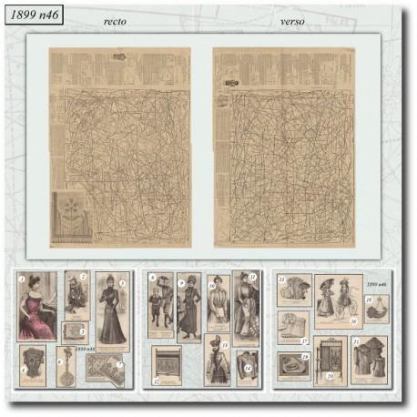 Patrons de La Mode Illustrée 1899 N°46