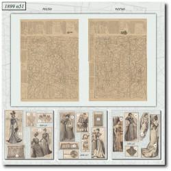 Patrons de La Mode Illustrée 1899 N°51