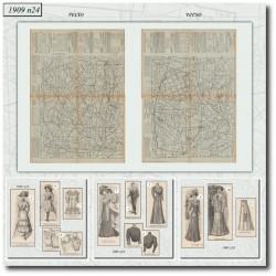 Patrons de La Mode Illustrée 1909 N°24