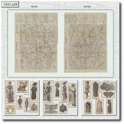 Sewing patterns La Mode Illustrée 1911 N°39