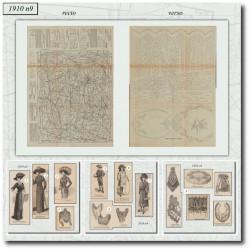 Sewing patterns Mode Illustrée 1910 09