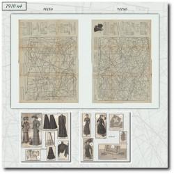Sewing patterns Mode Illustrée 1910 04