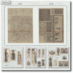 Sewing patterns Mode Illustrée 1910 32