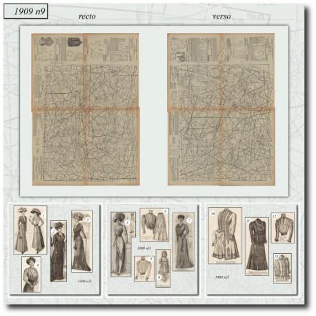 Sewing patternsLa Mode Illustrée 1909 N°11