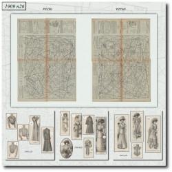 Sewing patterns La Mode Illustrée 1909 N°26