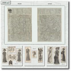 Patrons de La Mode Illustrée 1909 N°37