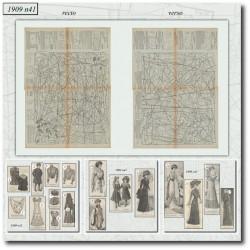 Patrons de La Mode Illustrée 1909 N°41