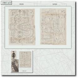 Digital historical sewing patterns 1861 N°13