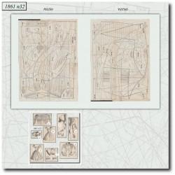 Sewing patterns La Mode Illustrée 1861 N°32