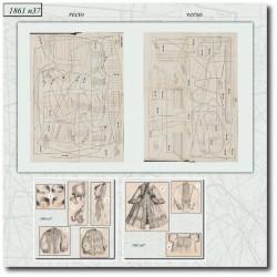 Sewing patterns La Mode Illustrée 1861 N°37