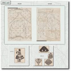 Sewing patterns La Mode Illustrée 1861 N°41