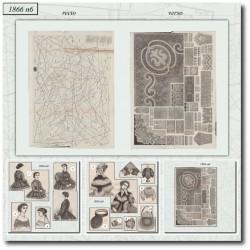 Patrons de La Mode Illustrée 1866 N°06