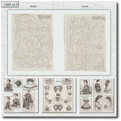 Patrons de La Mode Illustrée 1866 N°14