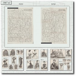 Sewing patterns La Mode Illustrée 1867 N°01
