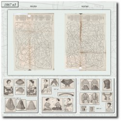 Sewing patterns La Mode Illustrée 1867 N°05